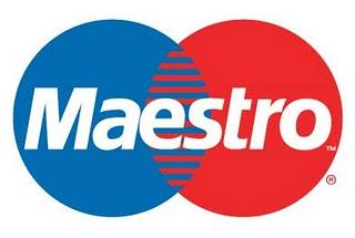 Платёжная банковская карта Maestro.