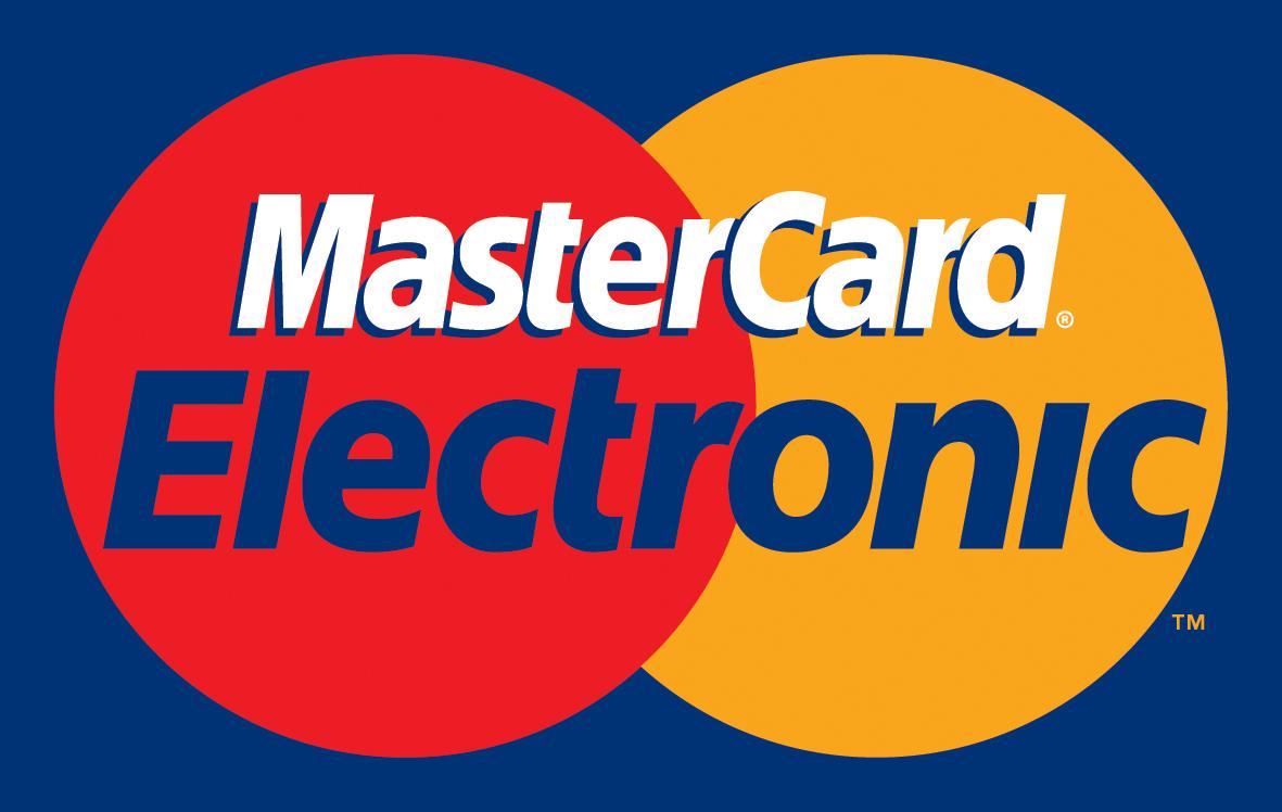 Платёжная банковская карта MasterCard Electronic.