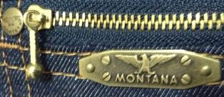 Мужские легендарные джинсы MONTANA 10040 - задний левый карман закрыт на молнию.