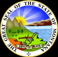 Большая печать штата MONTANA (МОНТАНА).