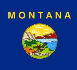 Флаг штата MONTANA (МОНТАНА) - один из государственных символов американского штата Монтана.