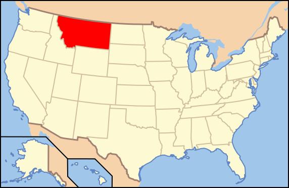 Штат MONTANA (МОНТАНА) находится на северо-западе США, статус 41-го штата США от 08.11.1889 года.