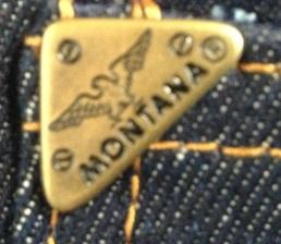 Мужские легендарные джинсы MONTANA 10040 - заклепка-уголок на часовом кармане.