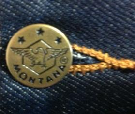 Мужские легендарные джинсы MONTANA 10040 - фирменная пуговица.