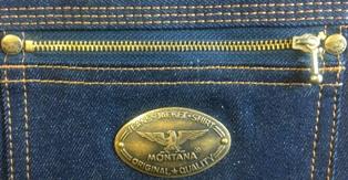 Мужские легендарные джинсы MONTANA 10040 - задний правый карман закрыт на молнию.