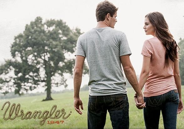 Мужские и женские джинсы Wrangler.
